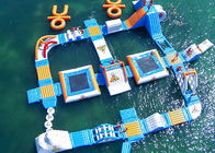 Safe Ocean Inflatable Water Park / Commercial Floating Water Playground